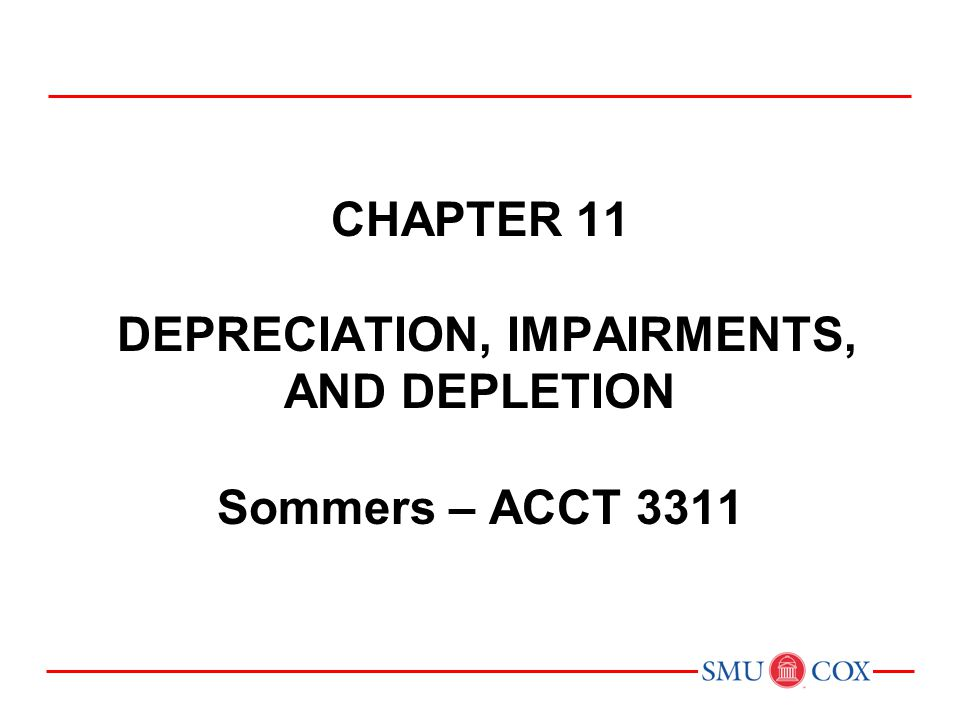depreciation vs depletion Chapter 17, depreciation, amortization, and depletion - 4 - for, and it would be necessary to estimate real rates of return and asset lives to determine the.