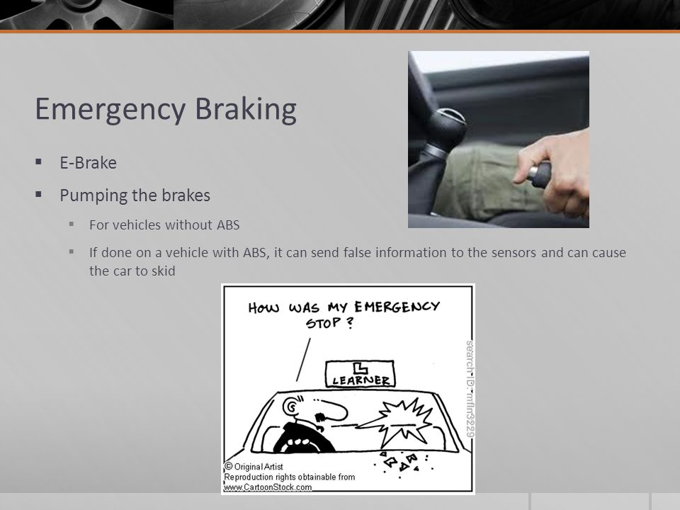 how to stop without abs brakes