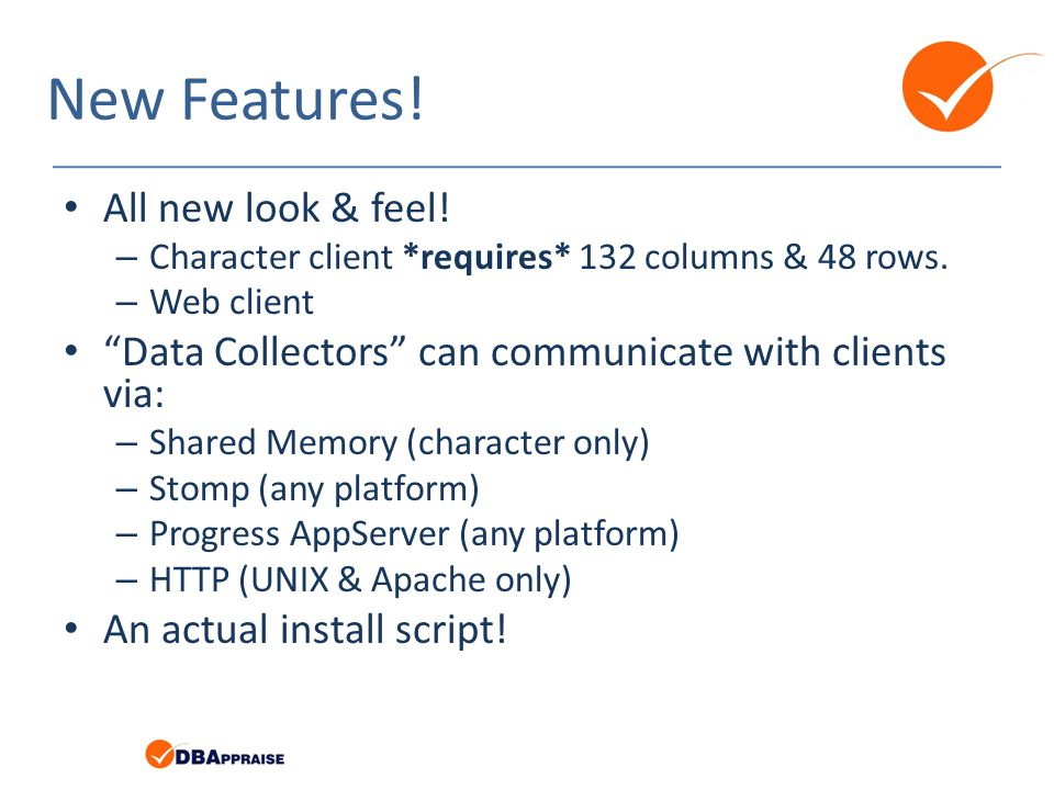 New Features! All new look & feel!