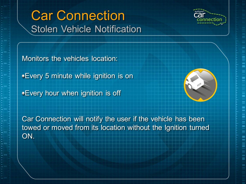 Car Connection Stolen Vehicle Notification