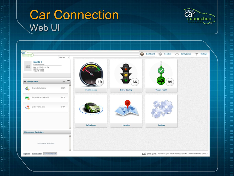 Car Connection Web UI