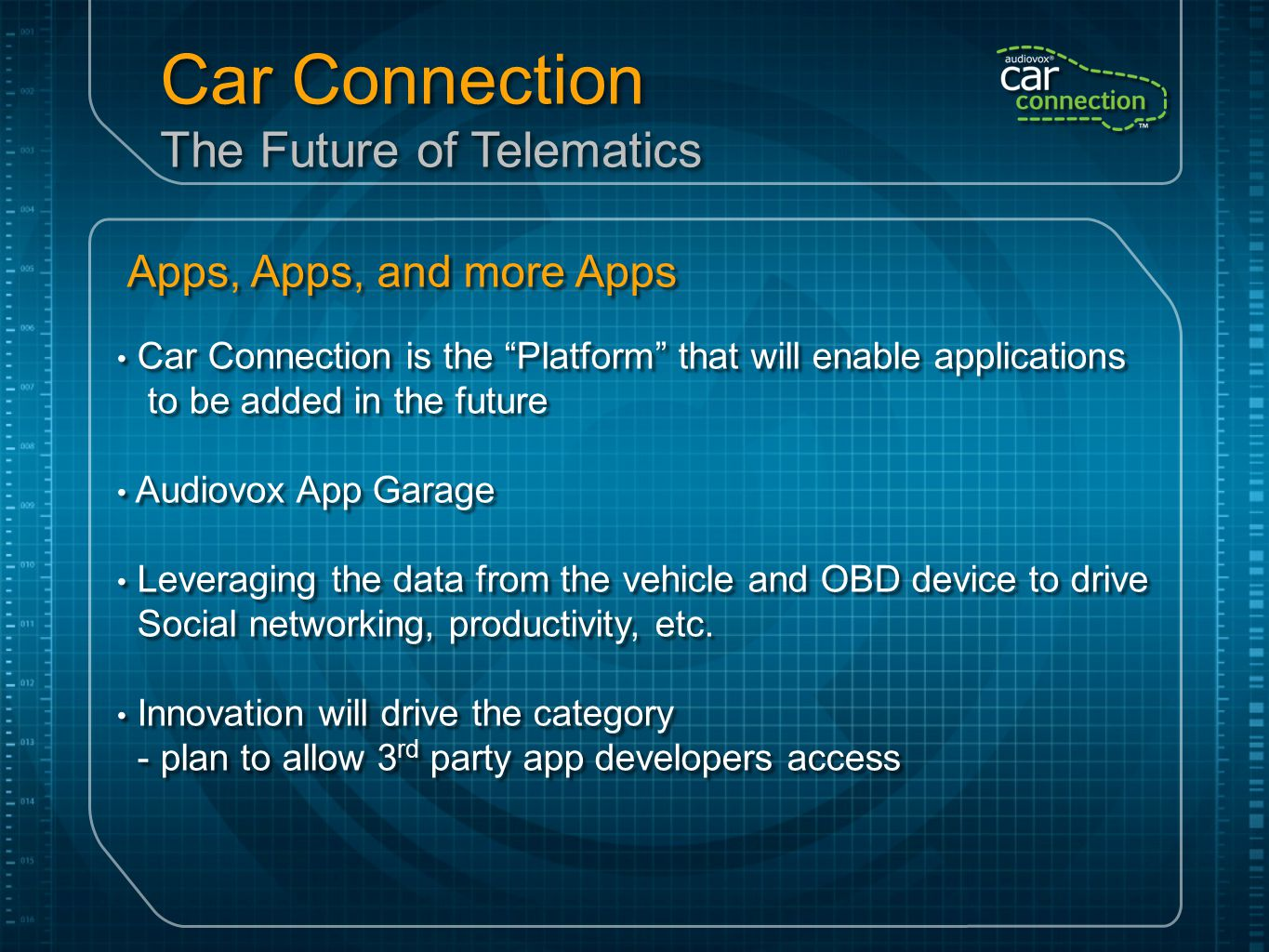 Car Connection The Future of Telematics