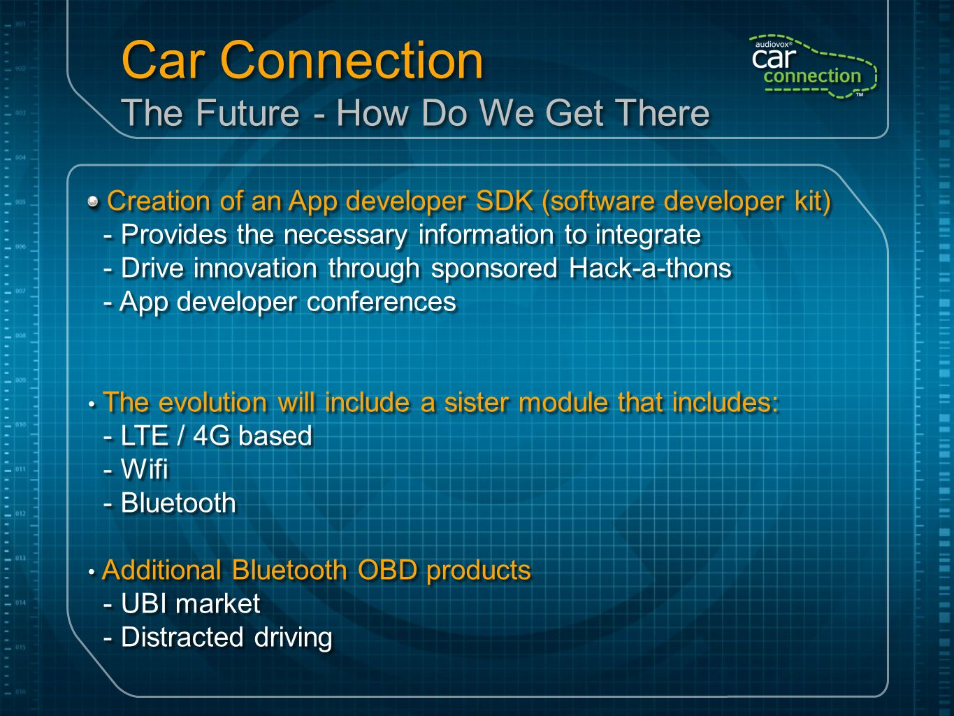 Car Connection The Future - How Do We Get There