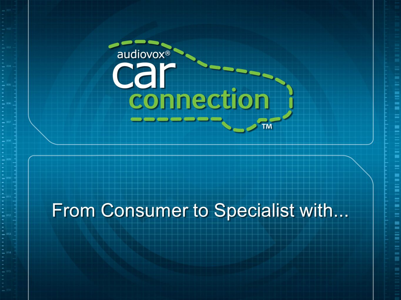 From Consumer to Specialist with...