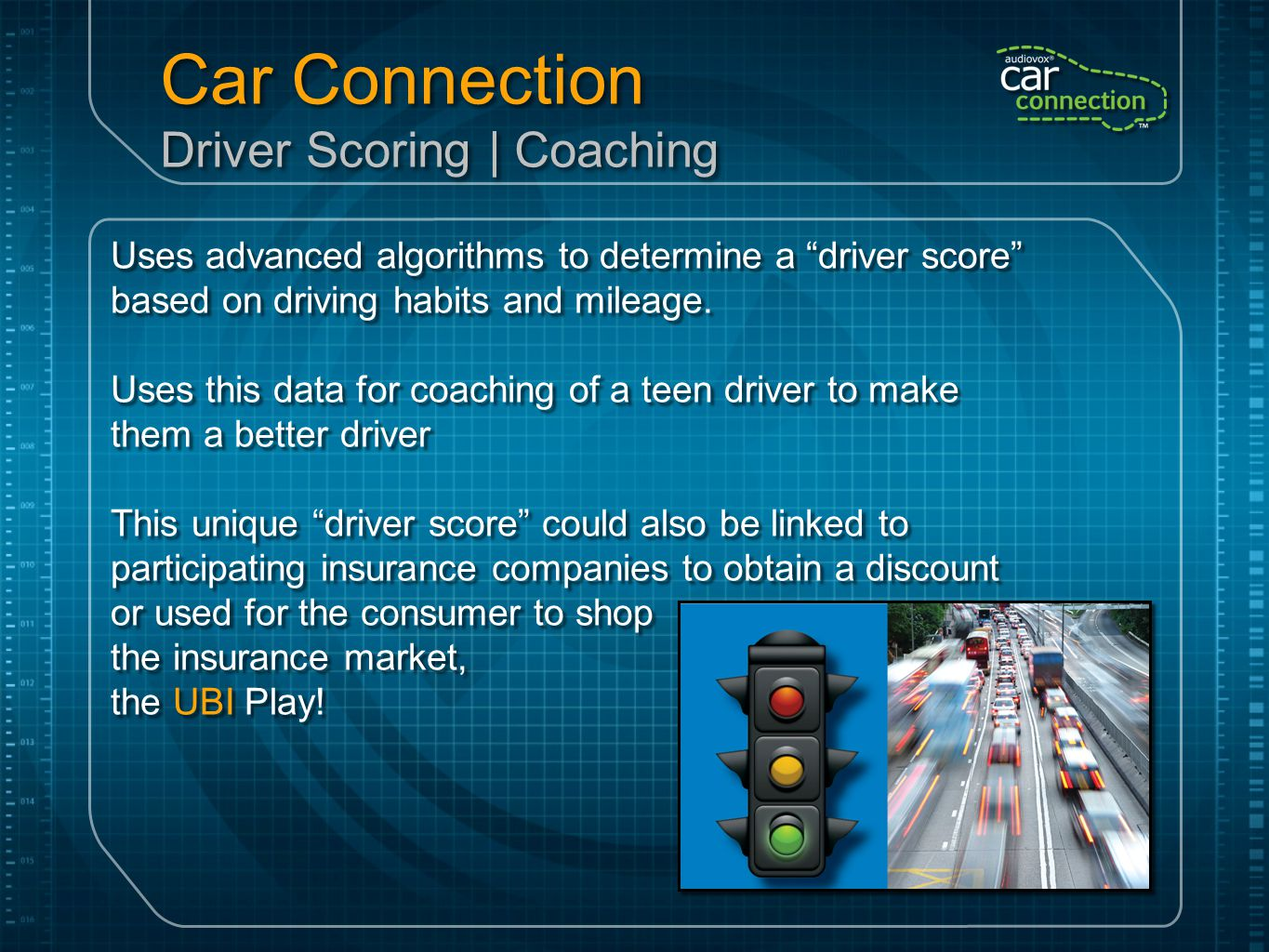Car Connection Driver Scoring | Coaching