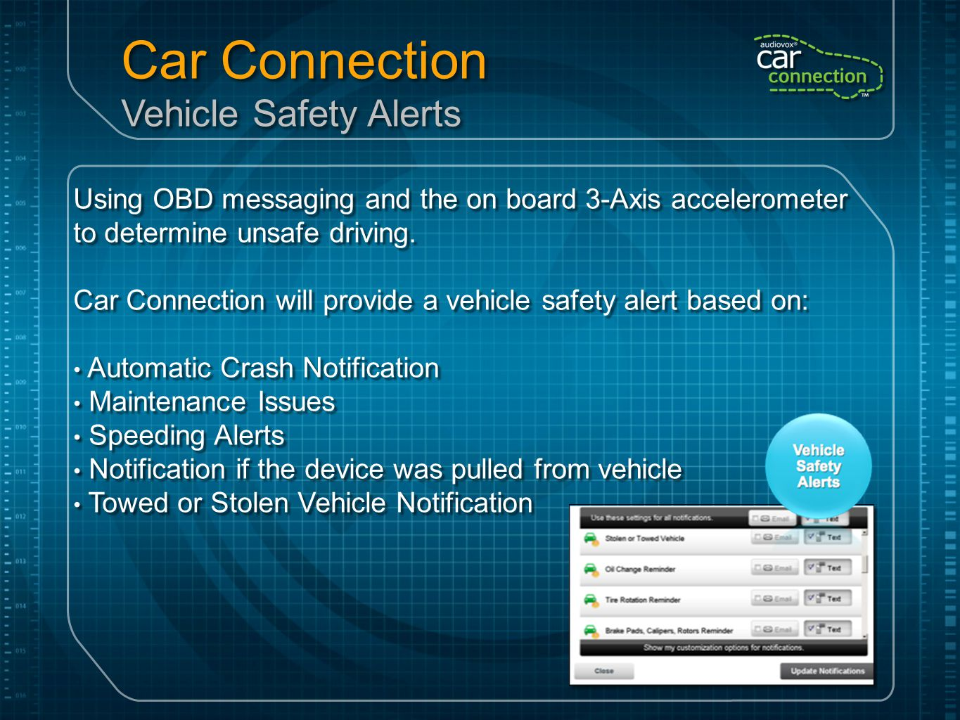Car Connection Vehicle Safety Alerts
