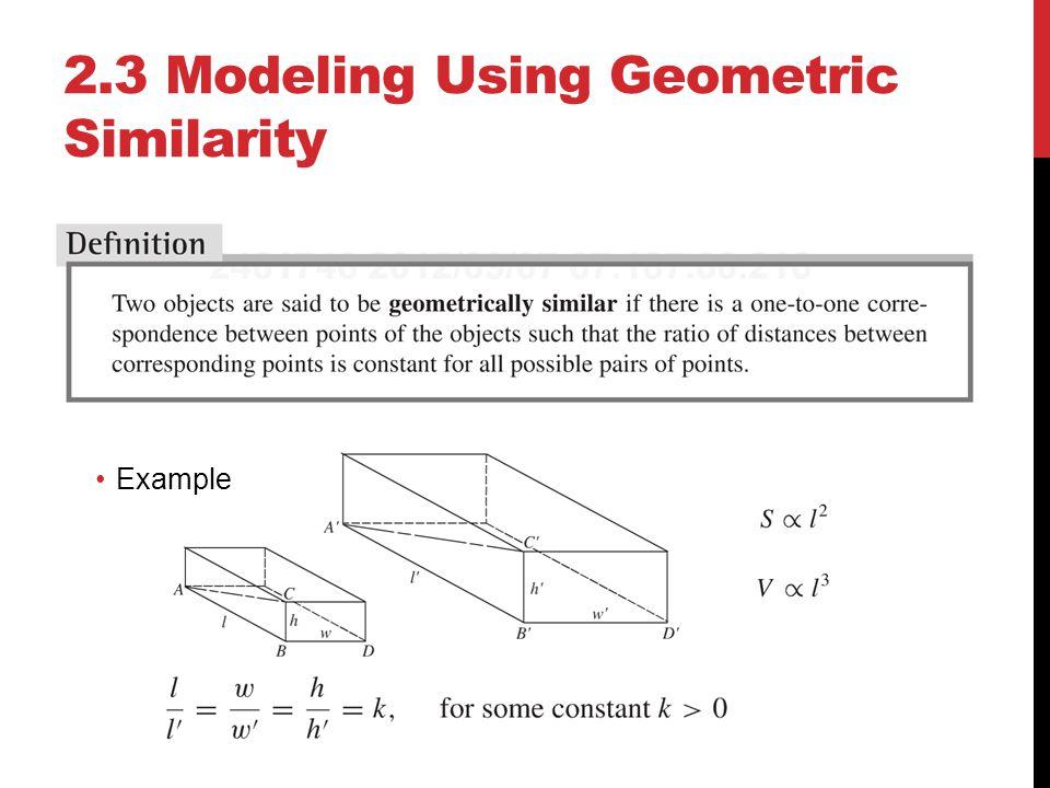 2.3 Modeling Using Geometric Similarity