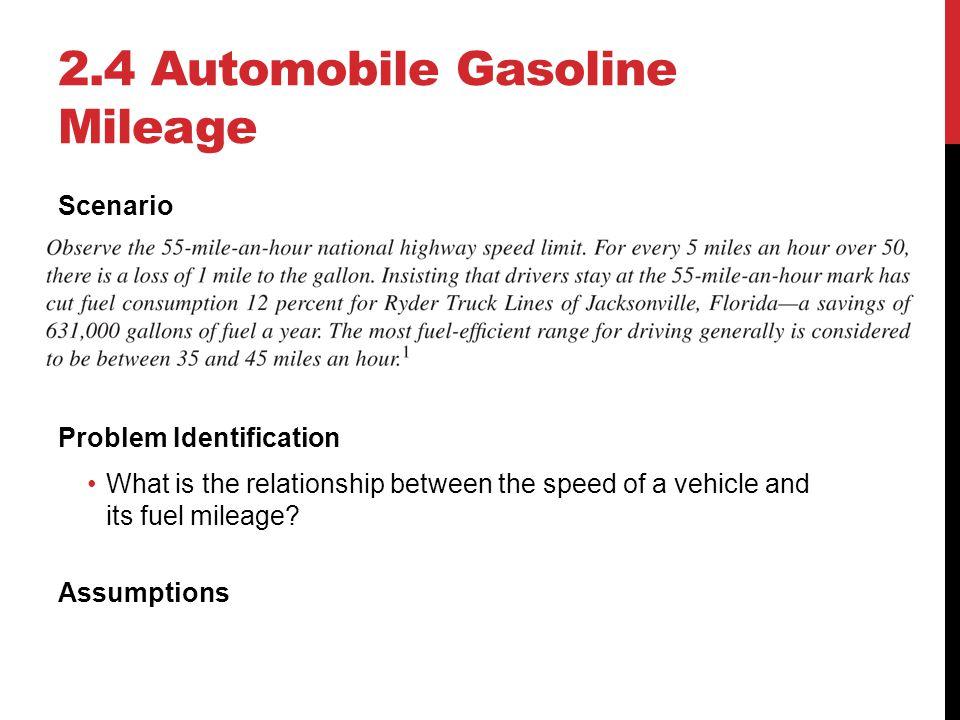 2.4 Automobile Gasoline Mileage