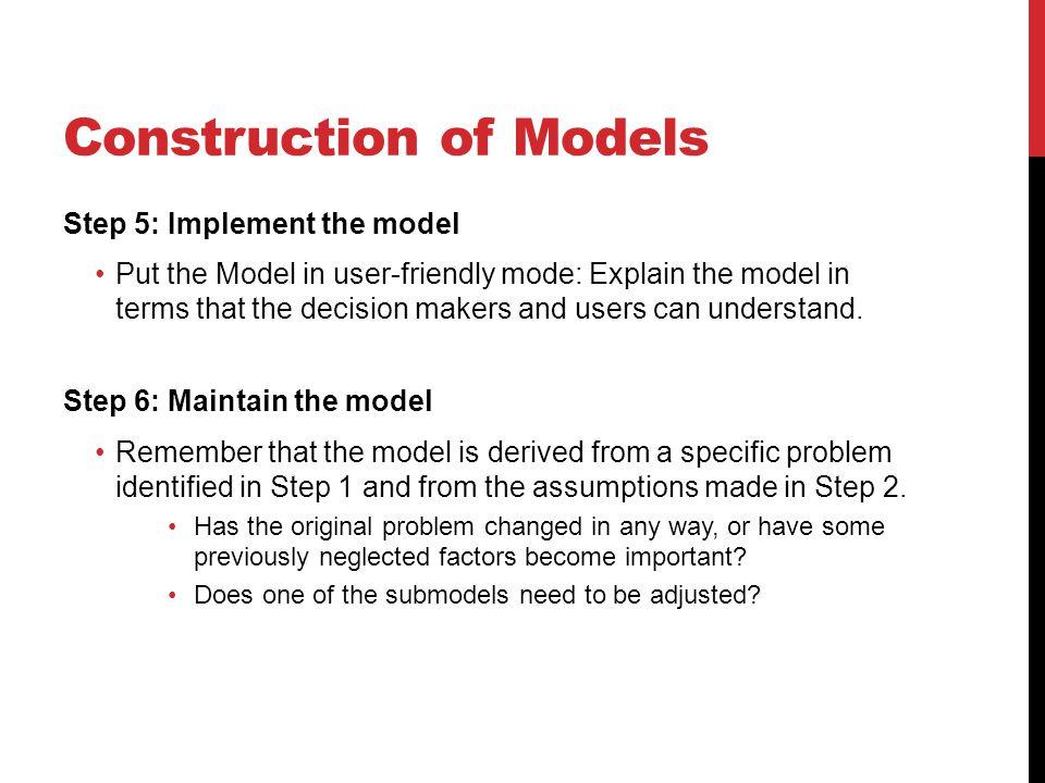 Construction of Models