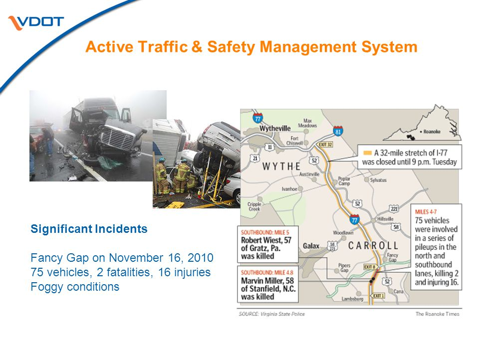 I-64 & I-77 Active Traffic Management System for Mountainous Regions
