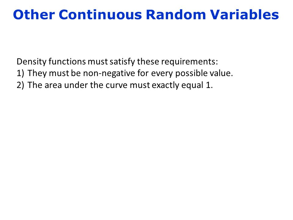 Other Continuous Random Variables