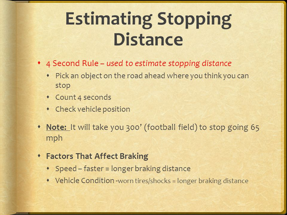 Estimating Stopping Distance