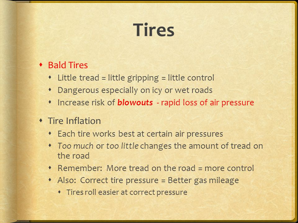 Tires Bald Tires Tire Inflation