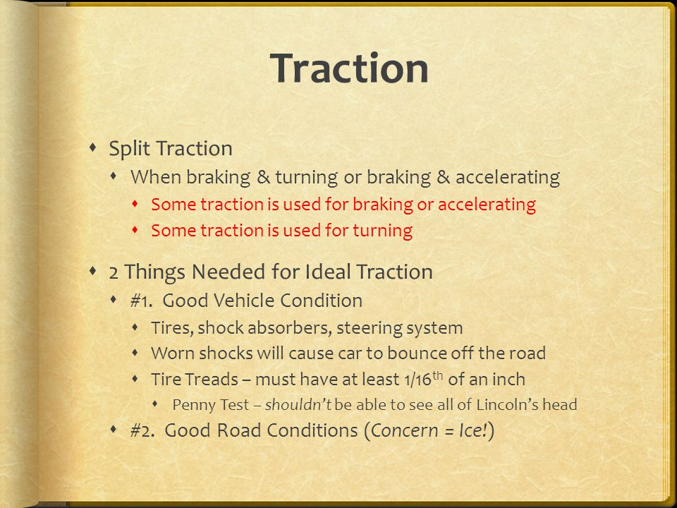 Traction Split Traction 2 Things Needed for Ideal Traction