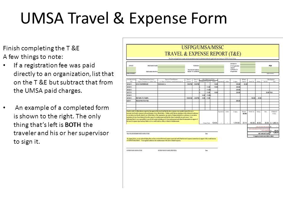 UMSA Travel & Expense Form