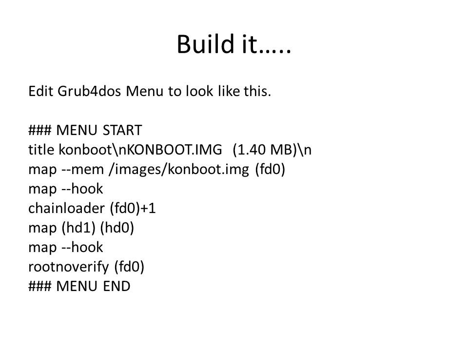 Build it…..