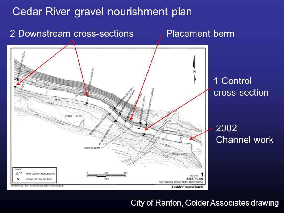 Cedar River gravel nourishment plan