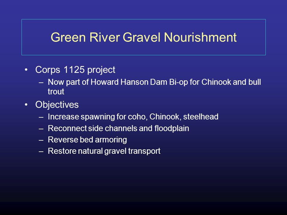Green River Gravel Nourishment