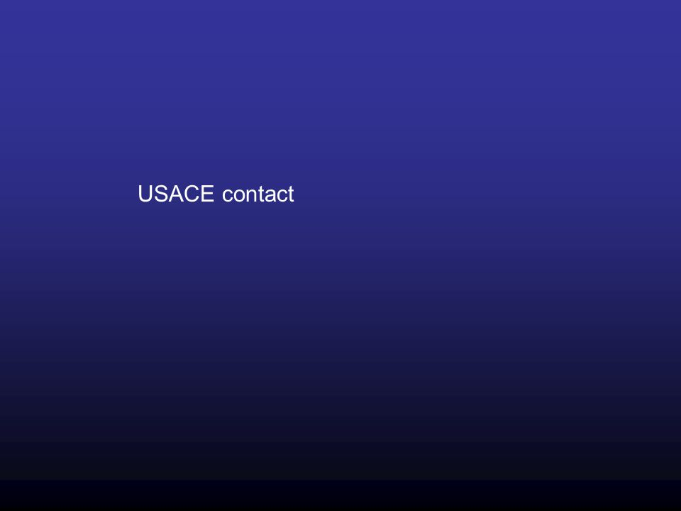 USACE contact