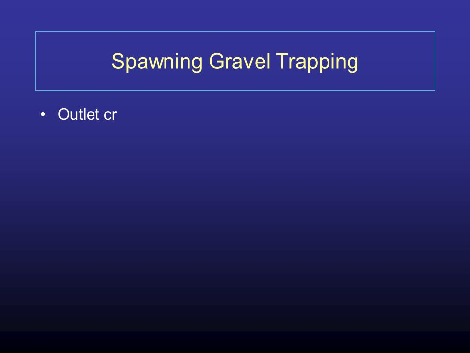 Spawning Gravel Trapping