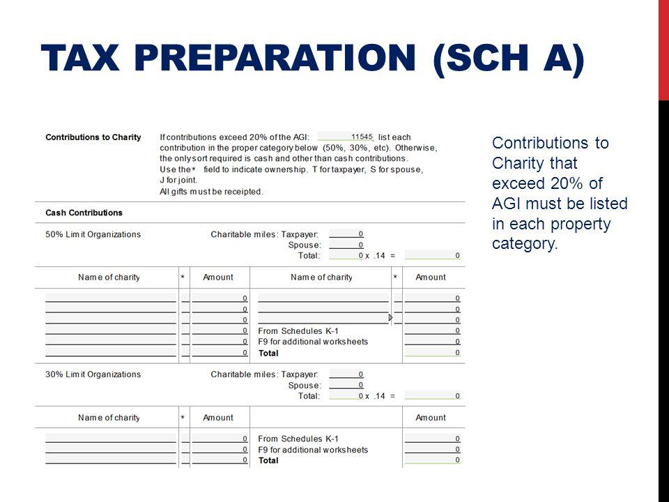Tax preparation (SCH A)