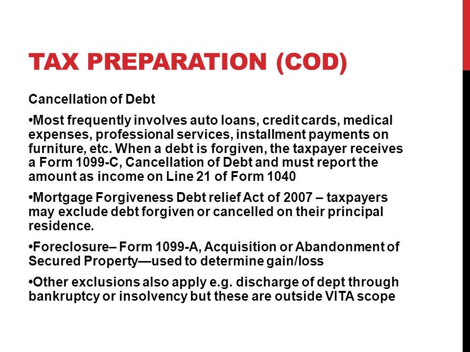 TAX Preparation (COD)