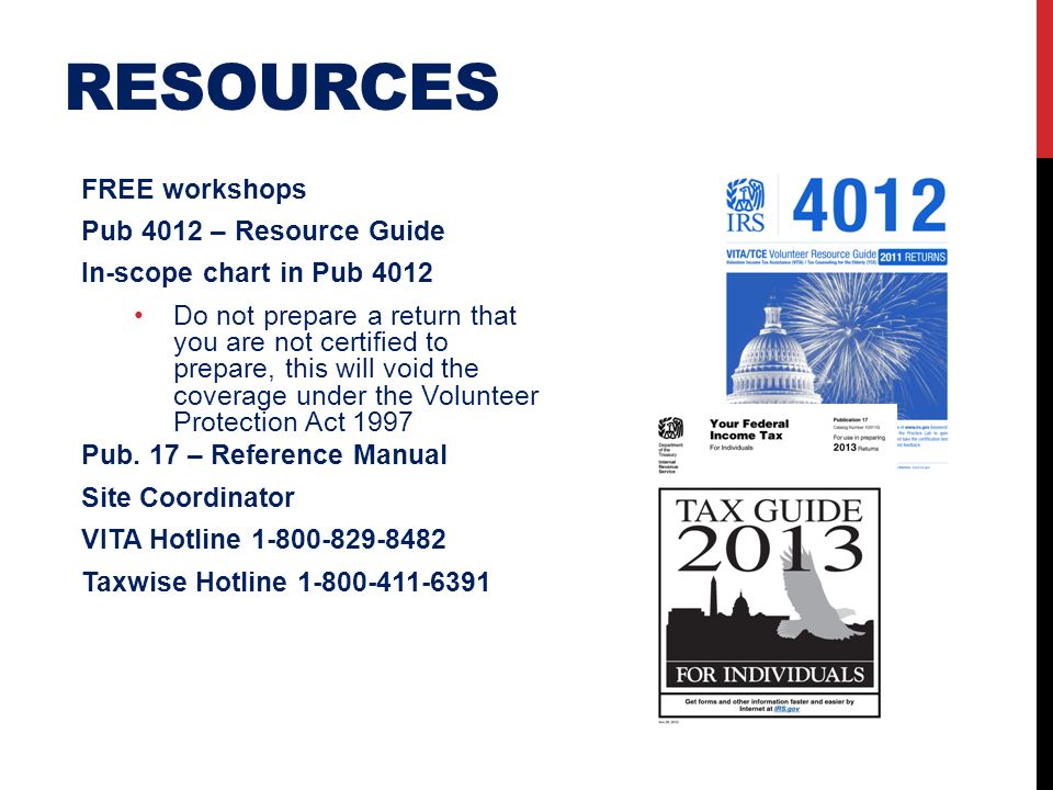 resources FREE workshops Pub 4012 – Resource Guide