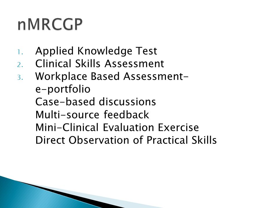 nMRCGP Applied Knowledge Test Clinical Skills Assessment