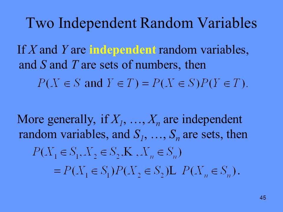 Two Independent Random Variables