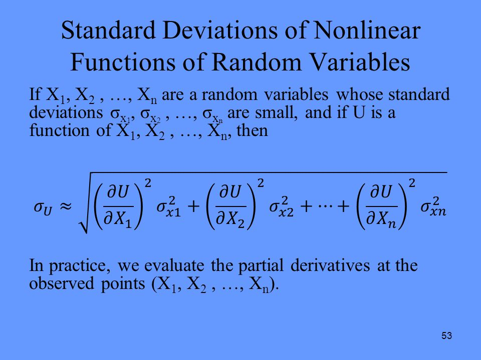 Standard Deviations of Nonlinear Functions of Random Variables