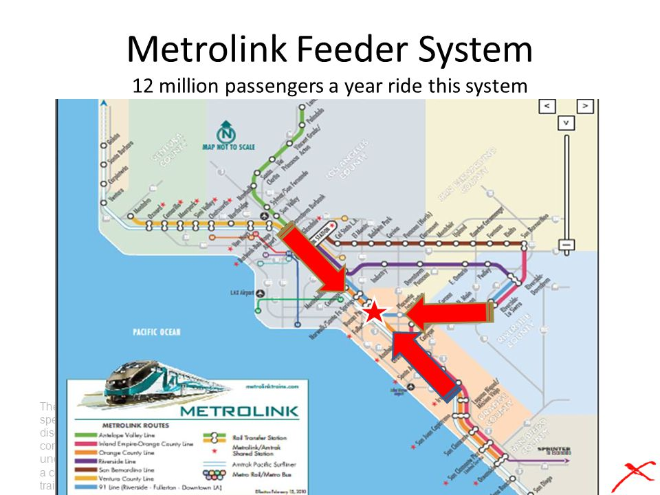 Metrolink Feeder System 12 million passengers a year ride this system