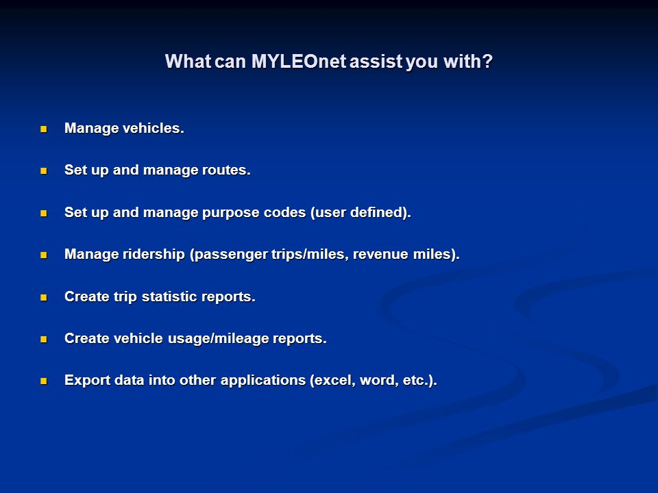 What can MYLEOnet assist you with