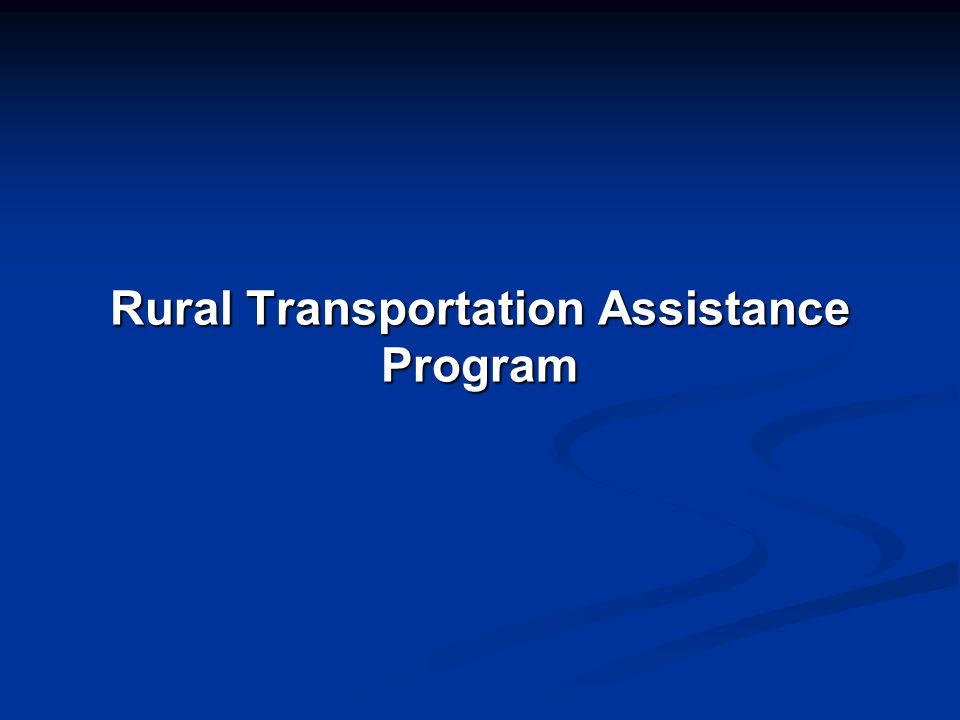 Rural Transportation Assistance Program