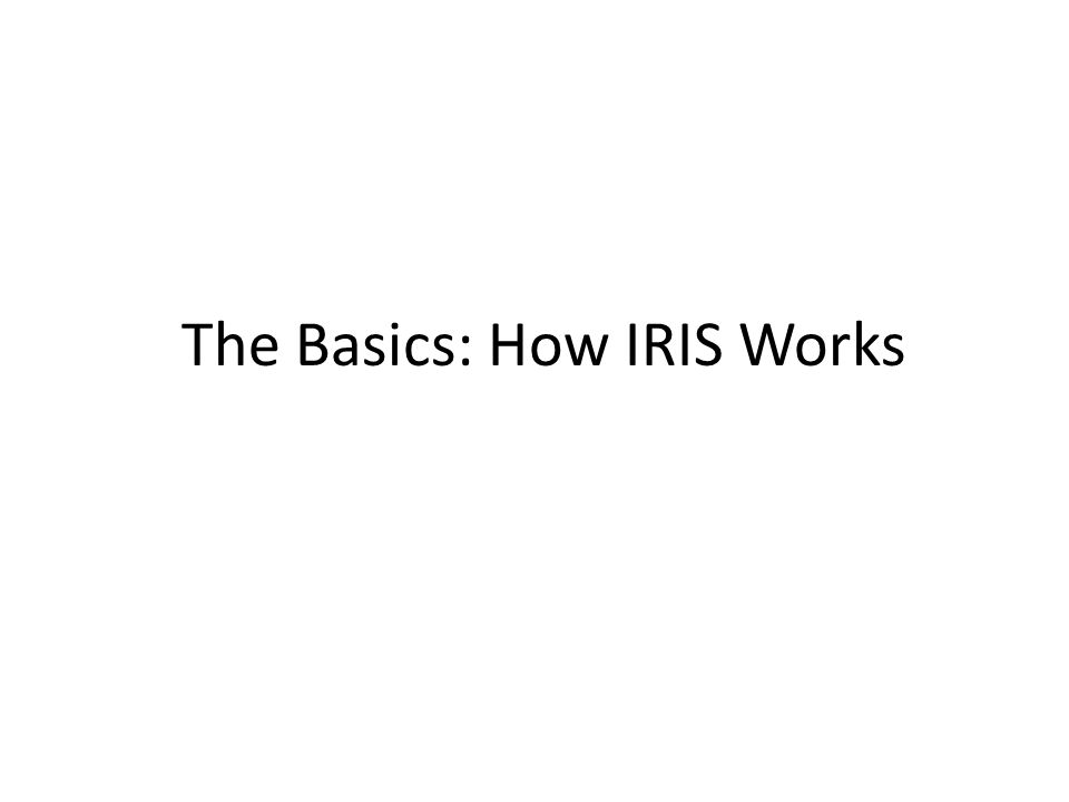 The Basics: How IRIS Works