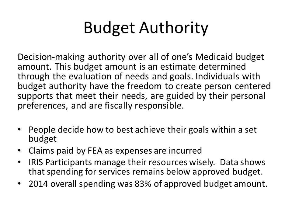 Budget Authority