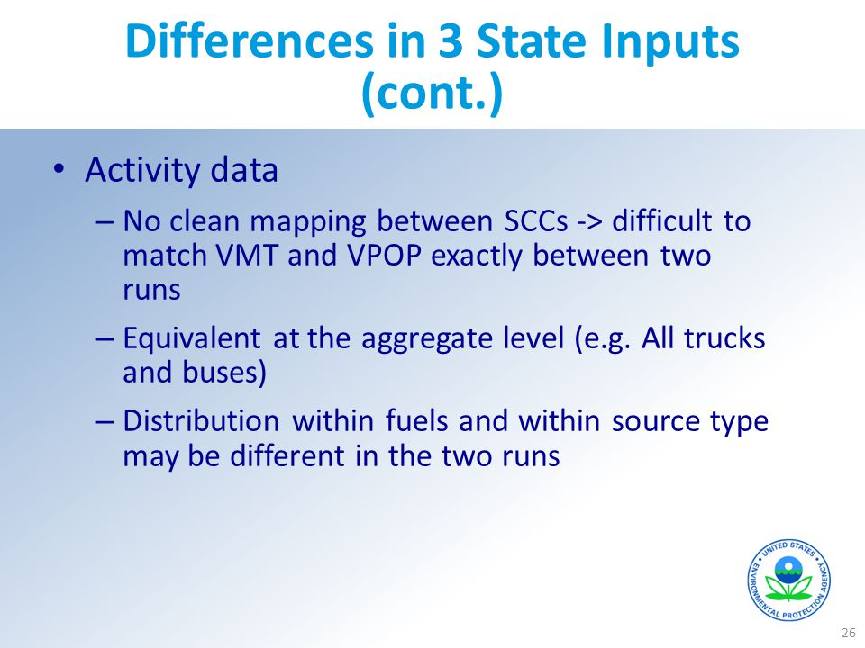 Differences in 3 State Inputs (cont.)