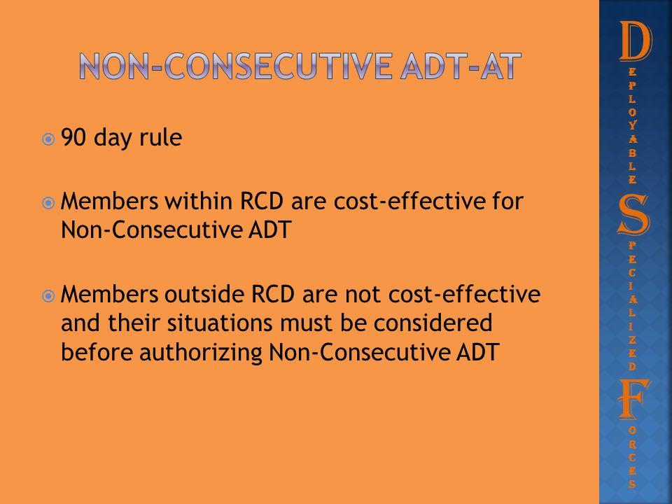 Non-consecutive adt-at