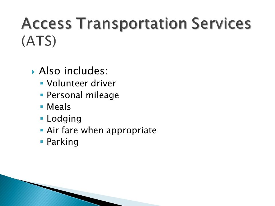 Access Transportation Services (ATS)