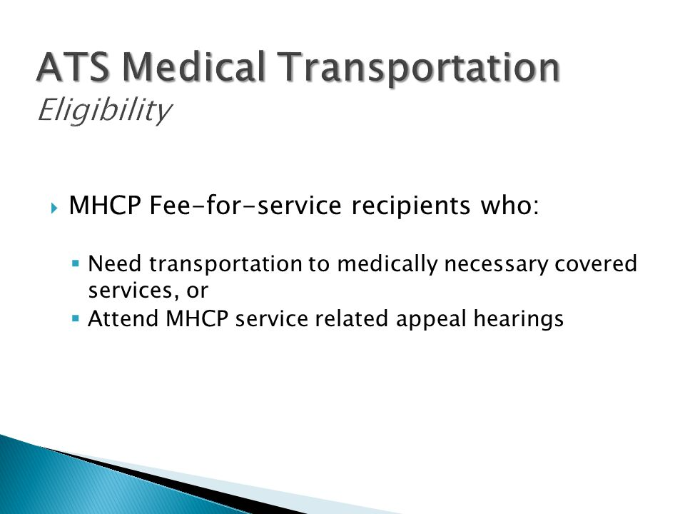 ATS Medical Transportation Eligibility
