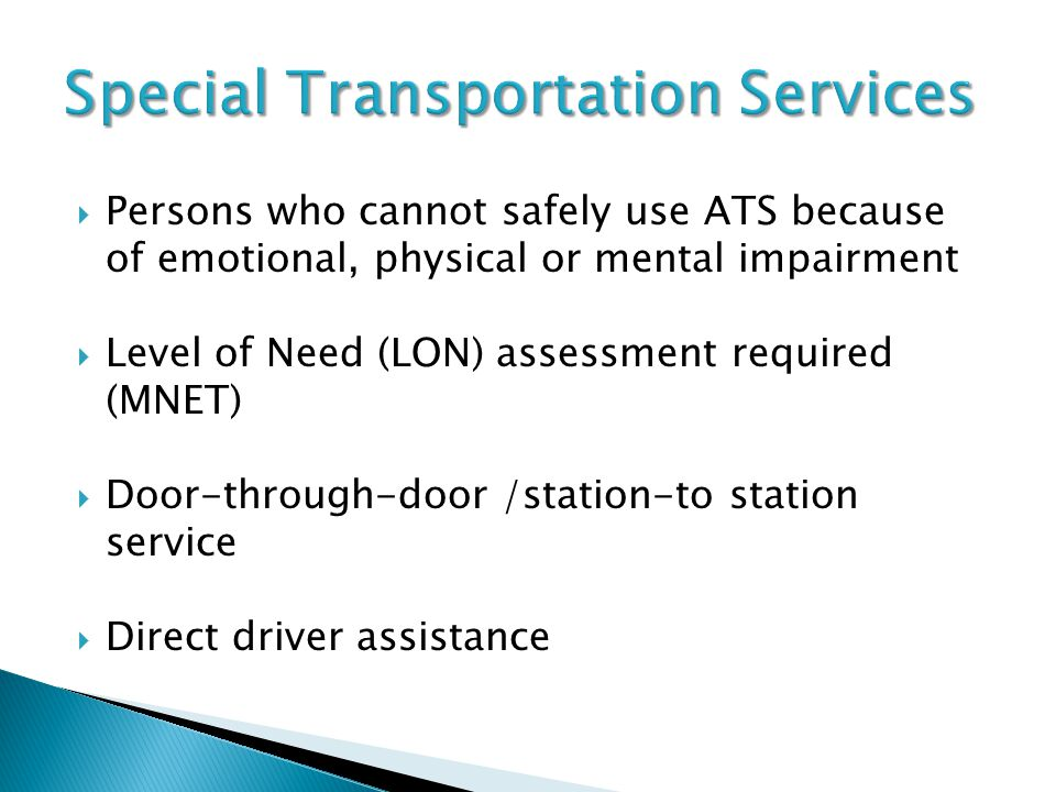 Special Transportation Services