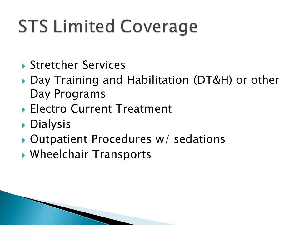 STS Limited Coverage Stretcher Services