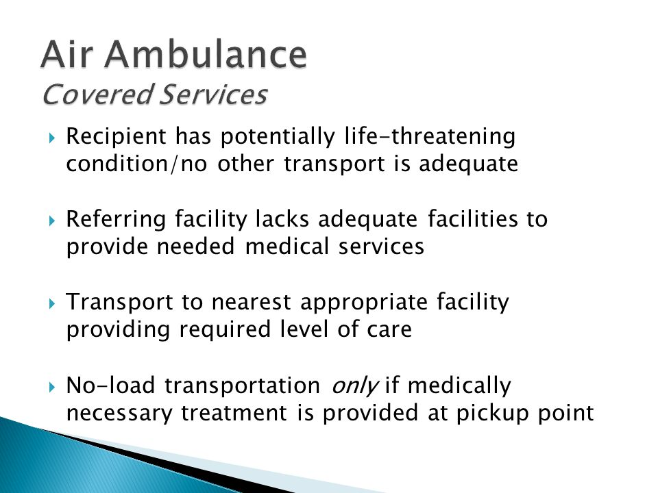 Air Ambulance Covered Services