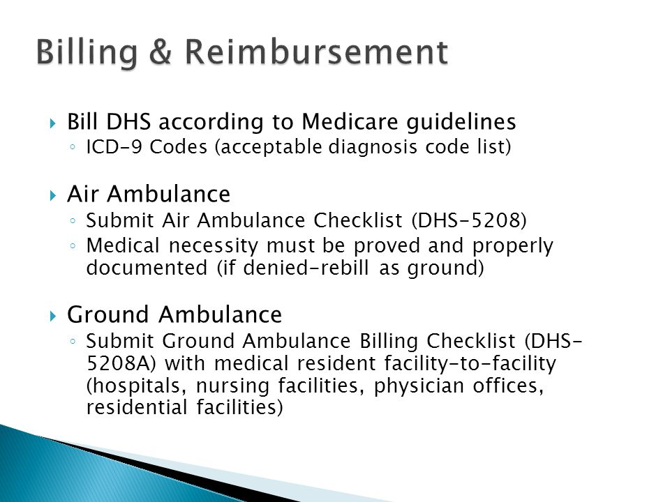 Billing & Reimbursement