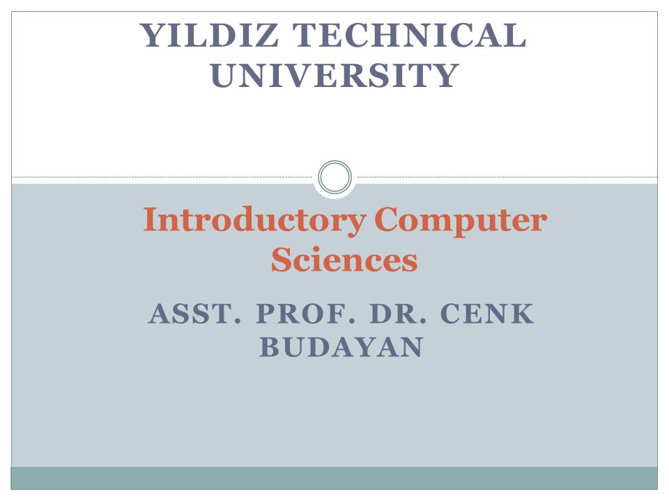 Introductory Computer Sciences