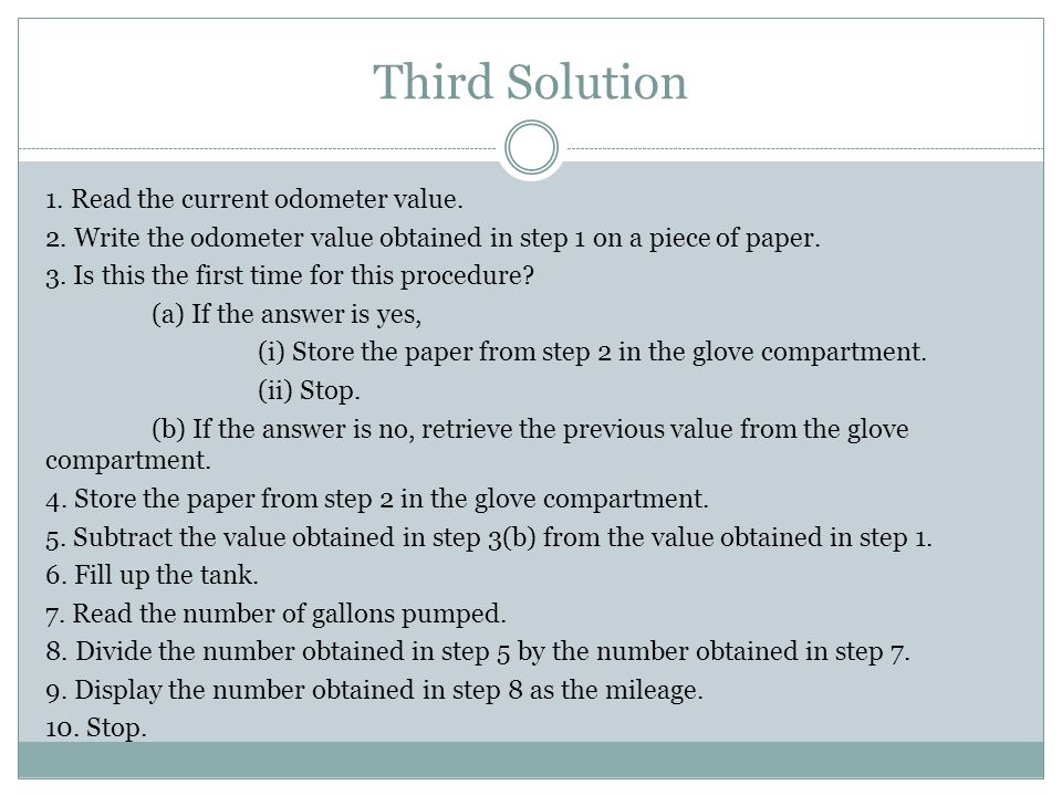 Third Solution