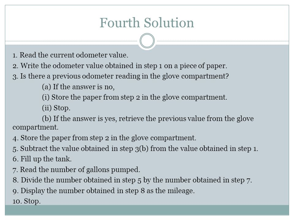 Fourth Solution