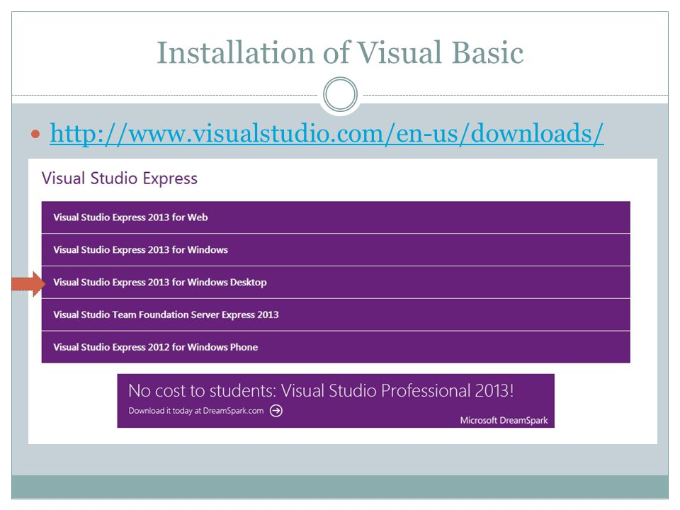 Installation of Visual Basic