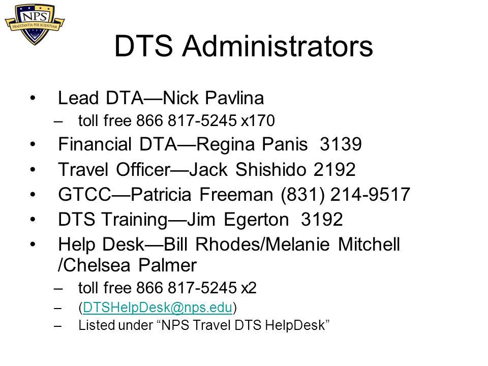 DTS Administrators Lead DTA—Nick Pavlina