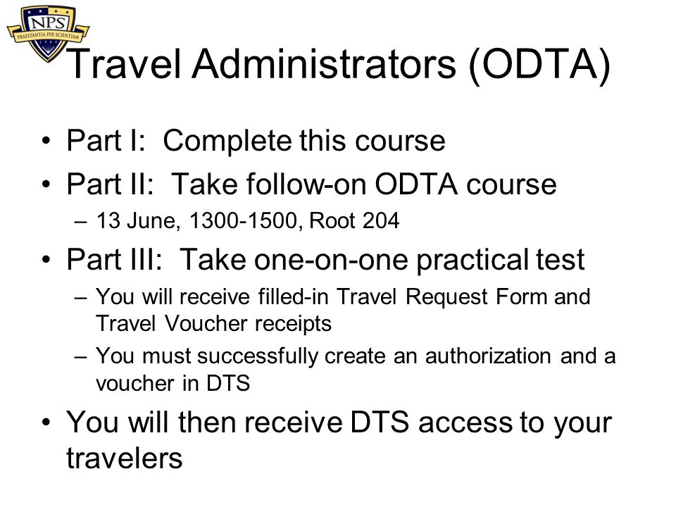 Travel Administrators (ODTA)