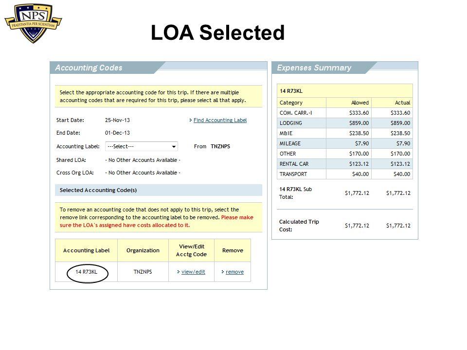 LOA Selected